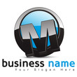 logo business design, lettre M