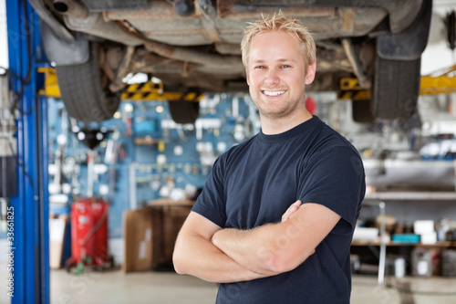 Portrait of Smiling Mechanic