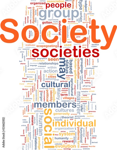 Society background concept