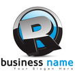 logo business design, lettre R