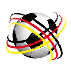 Fussball mit Flagge