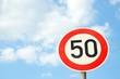 """Verkehrsschild """"50"""""""