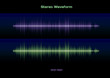 Stereo sound waveform