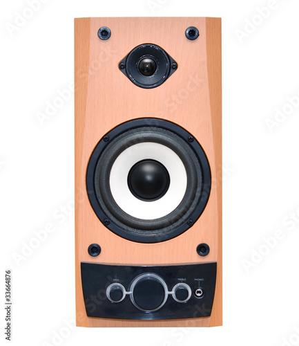 Speaker system isolated on white