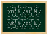 business concept: teamwork,chalkboard,vector
