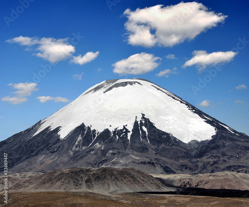 Vulcano Parinacota in National Park Lauca, Chile