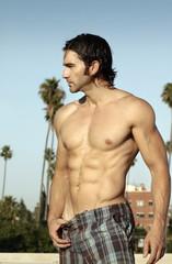 Shirtless man profile