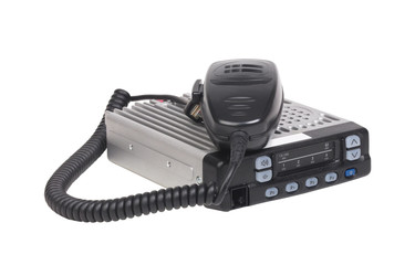 CB radio station and microphone