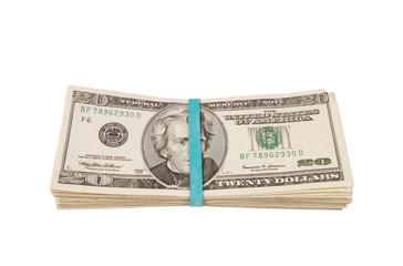 Roll of money savings concept