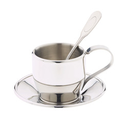 cup of tea and spoon