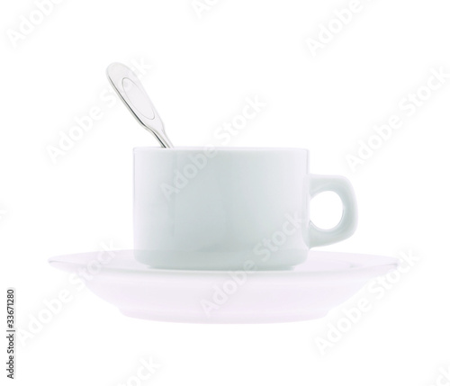 Cup of coffee and spoon