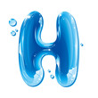 Water Liquid Letter - Capital H