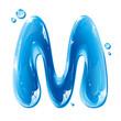 Water Liquid Letter - Capital M