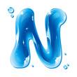 Water Liquid Letter - Capital N