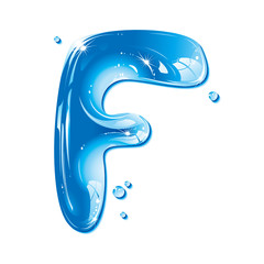 Water Liquid Letter - Capital F