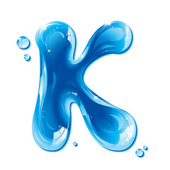 Water Liquid Letter - Capital K