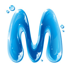 Water Liquid Letter - Capital M