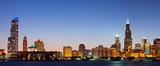 Chicago skyline at twilight. - Fine Art prints