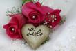 Herz mit der Inschrift Liebe