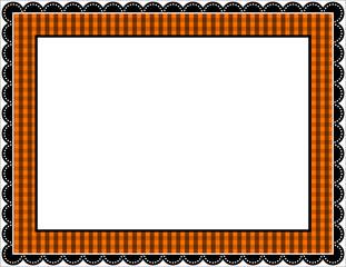 Halloween Gingham Frame