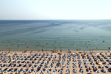 Hot day Albena beach bird's-eye view Bulgaria