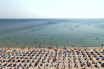 Hot day Albena beach bird's-eye view Bulgaria