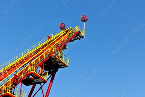 Starting ramp of a roller coaster