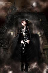 Vampira's Castle - Sexy Vampire guarding her Lair