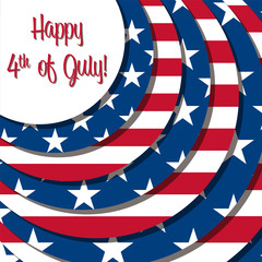 Happy 4th of July card in vector format.