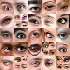 Abstract Variety of Eyes Montage