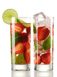 Strawberry Mojito cocktails