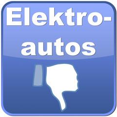 Button Elektroautos mit Daumen runter