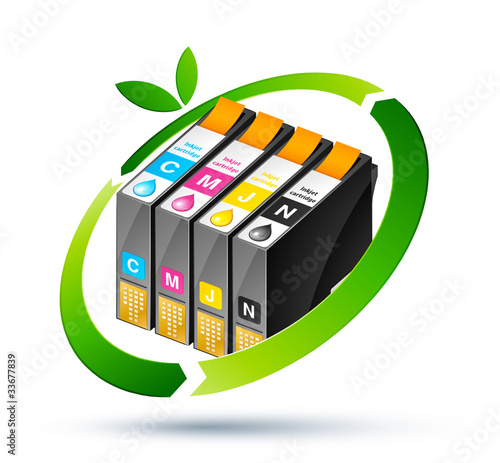cartouche encre recyclage - recycle inkjet cartridge - 33677839