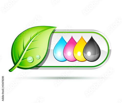 recyclage encre imprimante - 33678208