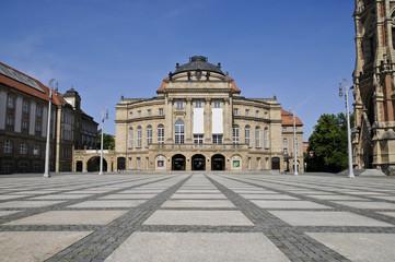 Opernhaus Chemnitz, Theaterplatz, Sachsen, Deutschland