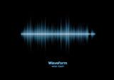 Fototapety Sharp cool blue waveform