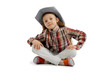 Little girl  wearing a cowboy hat