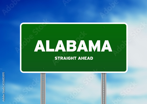 Alabama Green Highway Sign