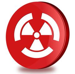 Radioactivity glossy icon