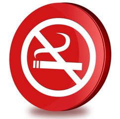 No smoking glossy icon