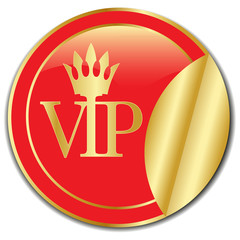 golden Sticker VIP.Vector