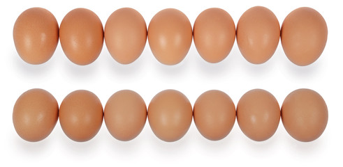 Sevent eggs in row