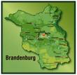 Brandenburg mit Höhenschichten