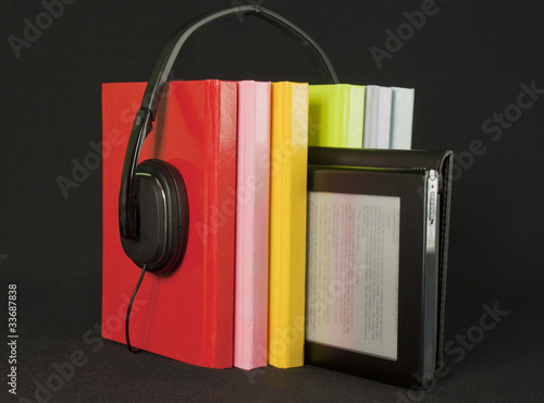 Audio books concept
