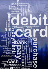 debit card word cloud