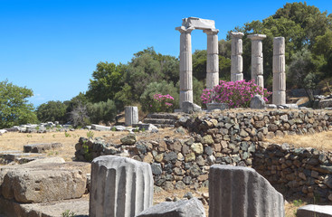 Temple of the Great Gods at Samothraki island in Greece