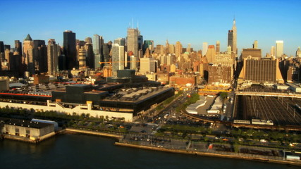 Aerial view of Midtown Manhattan, New York City, USA