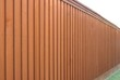 Angled view of cedar fence - 33691477