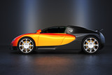 Luxury Sports car with studio lighting