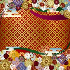 Japanese Floral Background